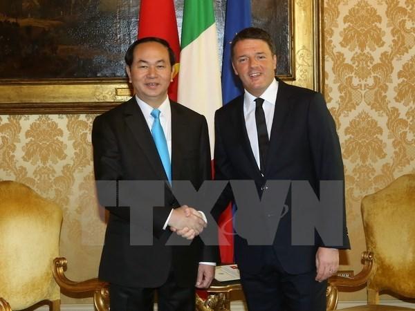 Visita a Italia del presidente de Vietnam contribuye a desarrollar nexos bilaterales hinh anh 1