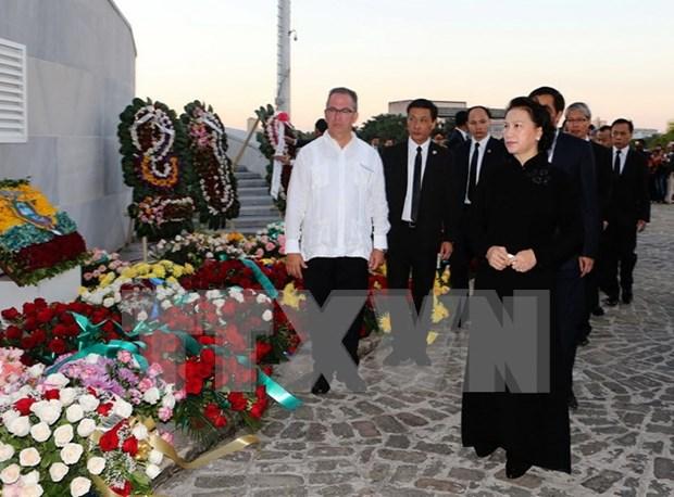 Presidenta parlamentaria de Vietnam rinde tributo postumo a Fidel Castro hinh anh 1