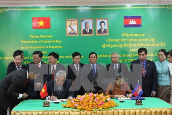 Vietnam y Camboya impulsan cooperacion en inspeccion hinh anh 1