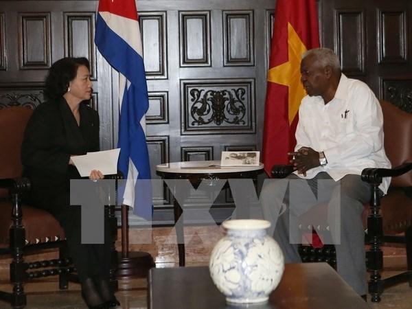Presidenta parlamentaria de Vietnam continua agenda en La Habana hinh anh 1