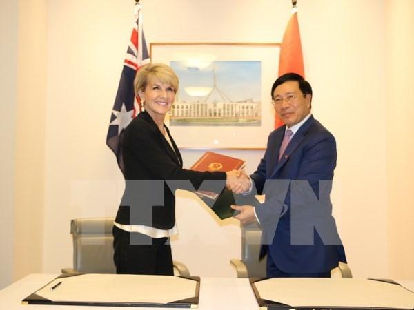 Vietnam es uno de socios clave de Australia en Asia-Pacifico, afirma canciller australiana hinh anh 1