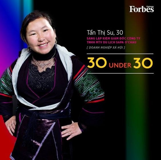 Forbes Vietnam honra a mujer de etnia minoritaria Mong hinh anh 1