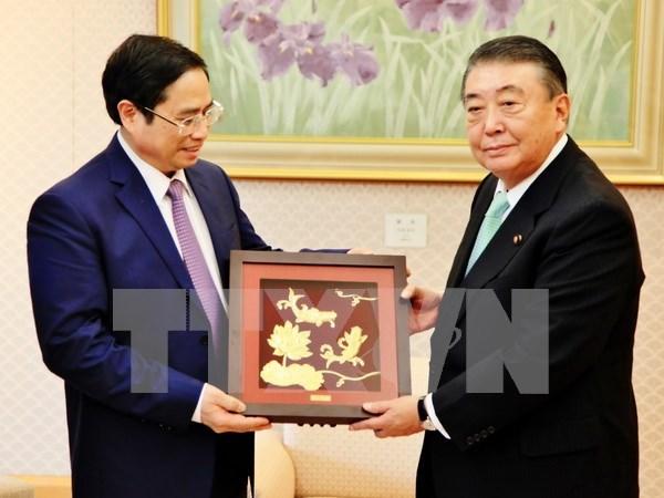 Lideres parlamentarios de Japon reciben a alto funcionario de PCV hinh anh 1