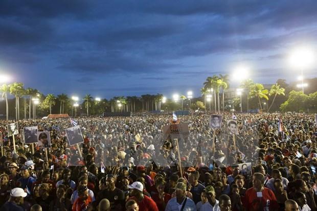 En Santiago de Cuba acto en memoria de Fidel Castro hinh anh 1