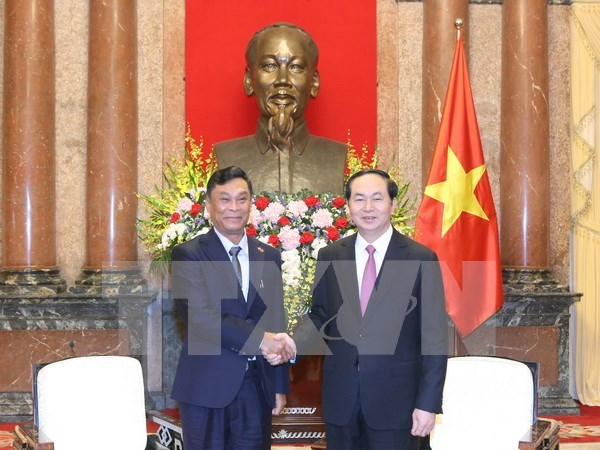 Vietnam considera importantes nexos con Myanmar, afirma presidente Tran Dai Quang hinh anh 1
