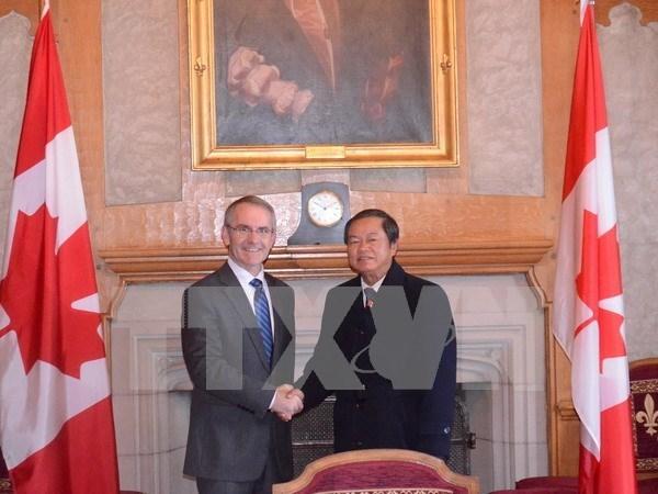 Vietnam busca desarrollar colaboracion integral con Canada hinh anh 1