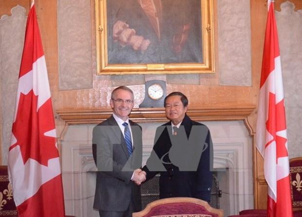 Continuan actividades de delegacion parlamentaria de Vietnam en Canada hinh anh 1