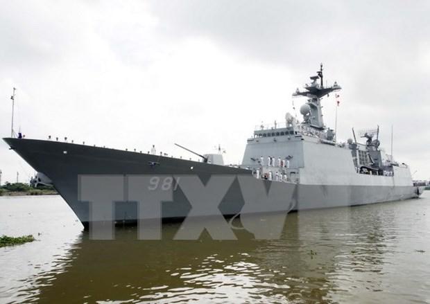 Buques navales de Sudcorea visitan puerto vietnamita de Cam Ranh hinh anh 1