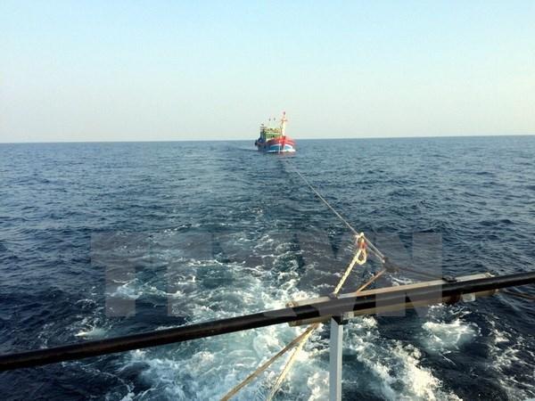 Rescatan a pescadores en aguas cerca del archipielago de Truong Sa hinh anh 1