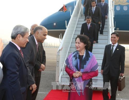 Inicia presidenta parlamentaria de Vietnam visita oficial a India hinh anh 1