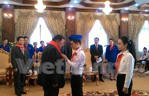 Jovenes vietnamitas y laosianos contribuiran al fomento de amistad bilateral hinh anh 1