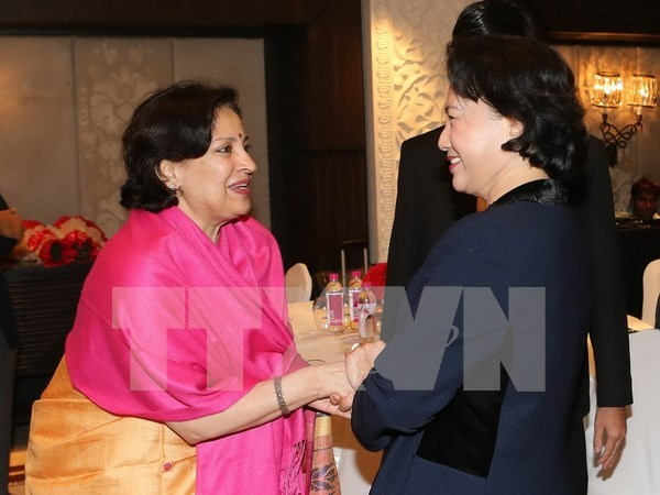 Continuan actividades en India de presidenta del Parlamento de Vietnam hinh anh 1