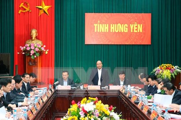 Premier urge a la provincia de Hung Yen a duplicar el numero de empresas hinh anh 1