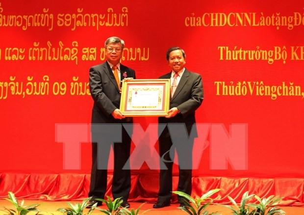 Laos reconoce destacadas contribuciones de viceministro vietnamita hinh anh 1