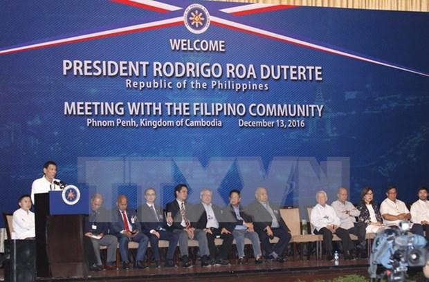 Presidente de Filipinas realiza visita oficial a Camboya hinh anh 1