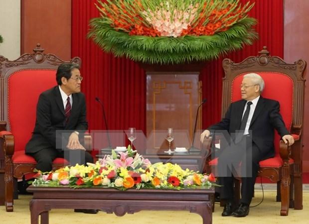 Lider partidista recibe a nuevo embajador de Japon hinh anh 1
