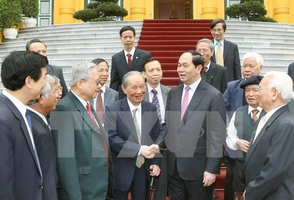 Presidente vietnamita se reune con ex expertos enviados a Camboya hinh anh 1