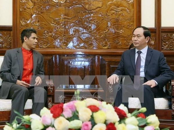Presidente vietnamita recibe a embajador de Timor Leste hinh anh 1