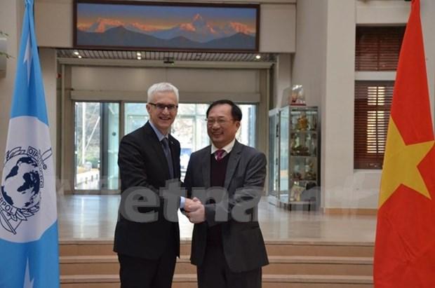 Vietnam fortalece cooperacion con Interpol contra crimenes transnacionales hinh anh 1