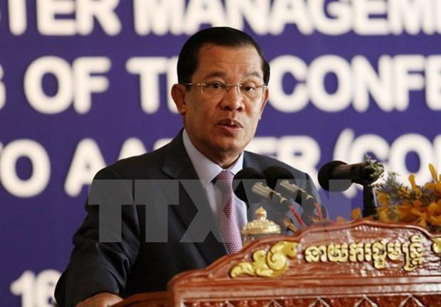 Visita a Vietnam del premier camboyano apuntalara la amistad y cooperacion bilateral hinh anh 1
