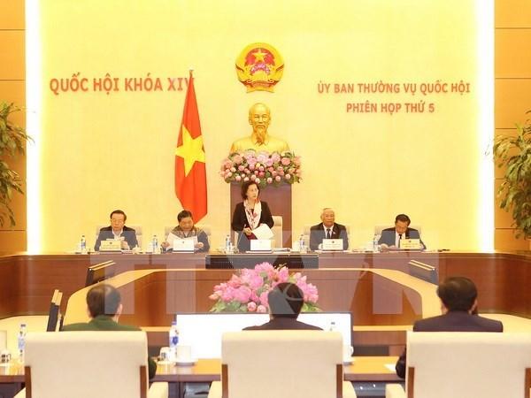 Inauguran quinta sesion del Comite Permanente del Parlamento vietnamita hinh anh 1