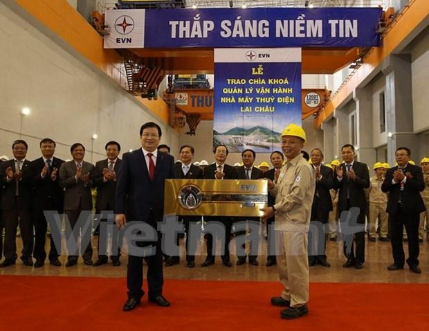 Inauguran hidrocentral Lai Chau, tercer mayor de su tipo en Vietnam hinh anh 1