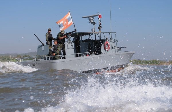 Cuatro paises riberenos del Mekong realizan patrullajes conjuntos hinh anh 1