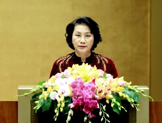 Presidenta del Parlamento de Vietnam recibe a embajadores de Sudcorea e Iran hinh anh 1