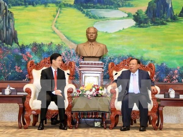 Dirigente laosiano elogia cooperacion en propaganda y educacion con Vietnam hinh anh 1