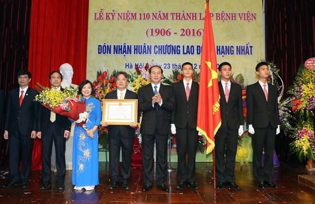 Presidente vietnamita exhorta al sector sanitario a mejorar la calidad de servicios hinh anh 1