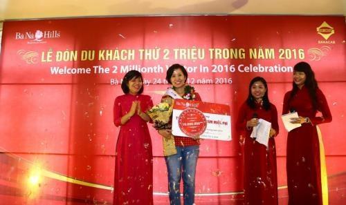 Ba Na Hills recibe a visitante numero dos millones en 2016 hinh anh 1