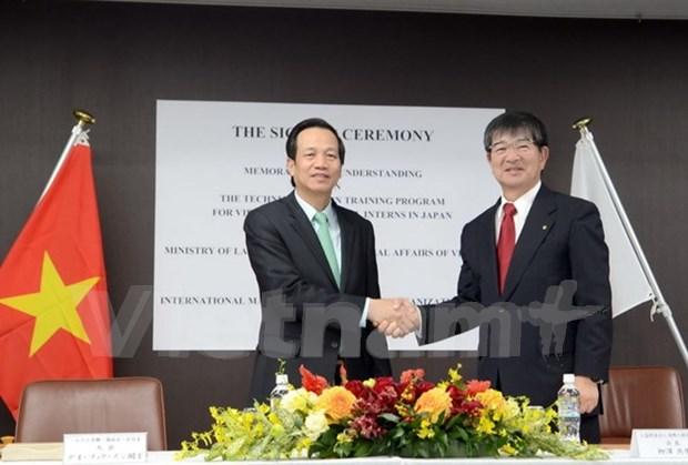 Vietnam y Japon cooperan en sector laboral hinh anh 1