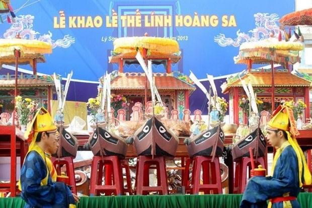 Celebran ritual dedicado a flotilla de Hoang Sa hinh anh 1