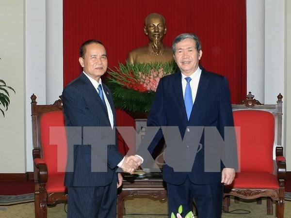 Partido Comunista de Vietnam atesora nexos con Camboya hinh anh 1