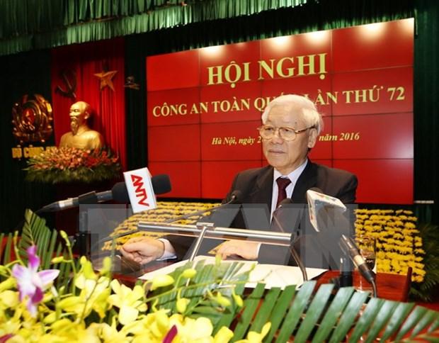 Lider partidista vietnamita elogia labores de seguridad publica hinh anh 1