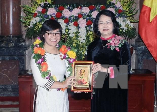 Vicepresidenta de Vietnam aprecia logros de cientificos jovenes hinh anh 1