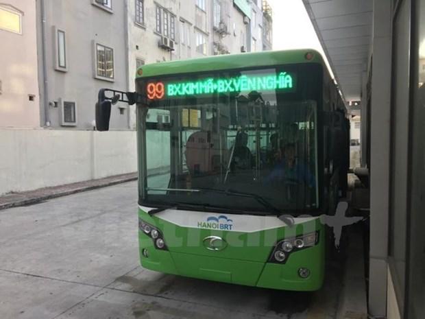 Pondran en operacion manana primer sistema de autobus expreso de Vietnam hinh anh 1