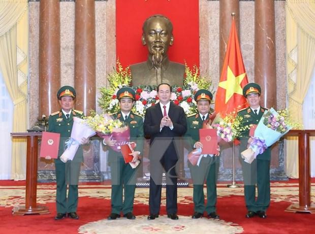 Ascienden de rango oficiales del Ejercito Popular de Vietnam hinh anh 1
