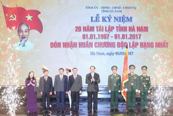 Presidente exhorta a Ha Nam a desarrollar industrias de alto valor agregado hinh anh 1