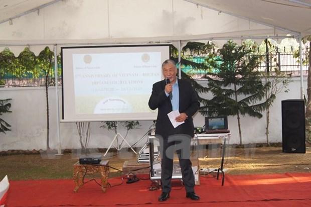 Conmemoran quinto aniversario por nexos diplomaticos Vietnam-Butan hinh anh 1