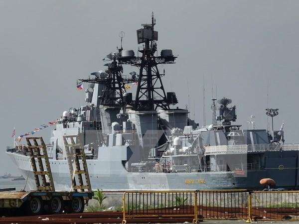 Barcos militares de Rusia visitan Filipinas hinh anh 1