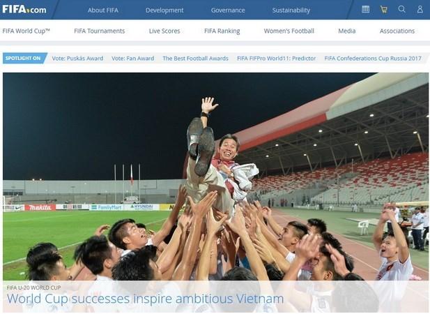 FIFA reconoce logros del futbol vietnamita hinh anh 1