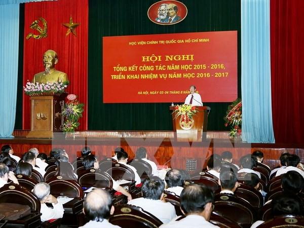 Academia Politica Nacional Ho Chi Minh por mejorar la calidad de ensenanza hinh anh 1
