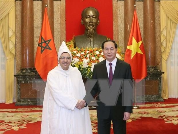 Presidente de Vietnam recibe a nuevo embajador japones hinh anh 1