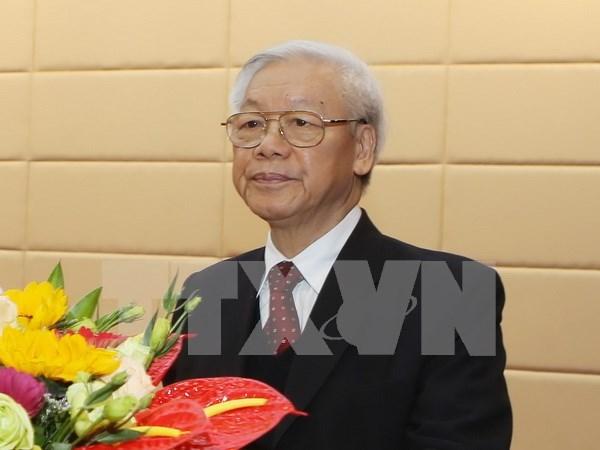 Vietnam entra en ano nuevo con vigoroso impetu, afirma lider partidista hinh anh 1