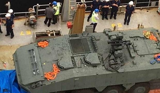 Singapur rechaza detencion por Hong Kong de sus vehiculos blindados hinh anh 1