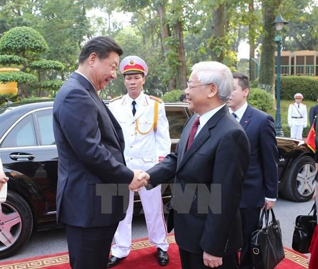 Prensa china presta atencion a proxima visita del lider partidista de Vietnam hinh anh 1