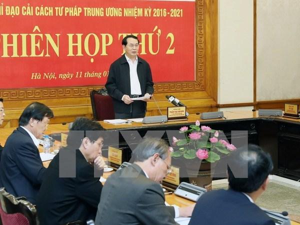 Presidente urge a perfeccionar el sistema juridico hinh anh 1