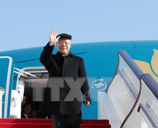 Destacan importancia de visita a China de lider partidista de Vietnam hinh anh 1