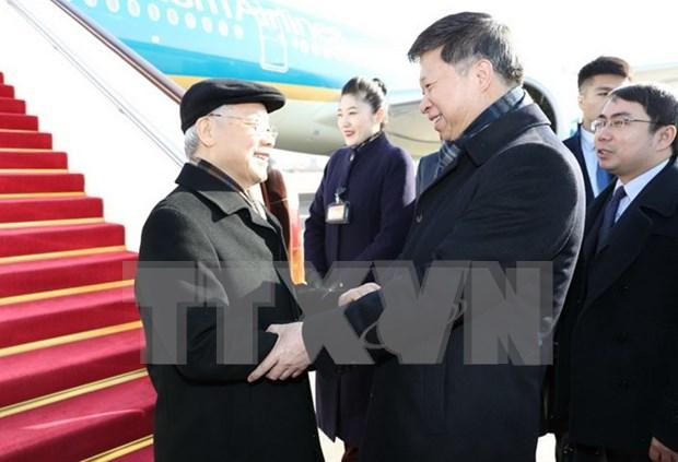 Maximo lider partidista de Vietnam inicia visita oficial a China hinh anh 1